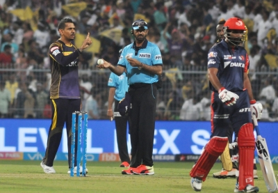 Narine picked up his 100th IPL wicket in the game. (IANS)