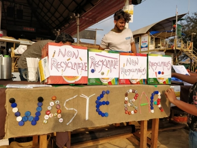 Photo ID: 879576Caption: In an innovative green initiative, this waste-bar at popular Baga beach in Goa exchanges beer bottle caps, used cigarette butts and plastic straws for a beer.Release Date & Time: 2019-02-02 23:00Source: IANSImage Type: JPG  FileDimensions: 960*720 pxImage Size: 373.1 KBEvent: Free Photos: To clean Goa beaches, this 'waste-bar' exchanges cigarette butts, used straws for beer (IANS Special Series)