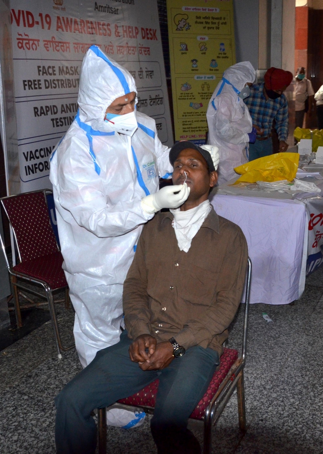 Low testing, high Covid numbers plague Andhra on Wed