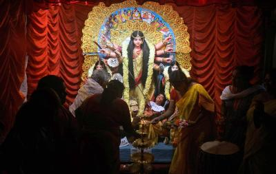Sonagachi sex workers scale up Durga Puja