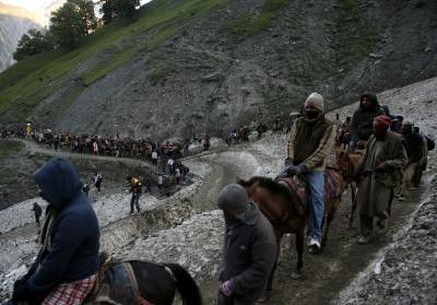 1141 pilgrims leave for Amarnath from Jammu