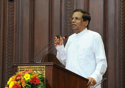 70 IS suspects held after bombings: Sirisena (Lead)