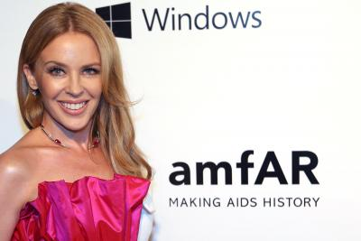 Kylie Minogue is happy to be single