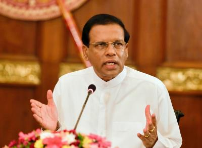 Sirisena asks Defence Secy, police chief to quit