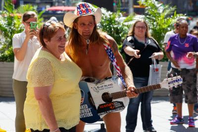 NYC s Naked Cowboy causes a stir in Mexican capital
