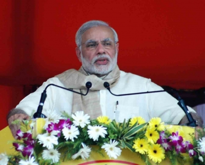 PM released butterflies, prayed to Narmada on his 69th B'day