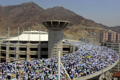 Over two million pilgrims performing Waqoof-e-Arafat today