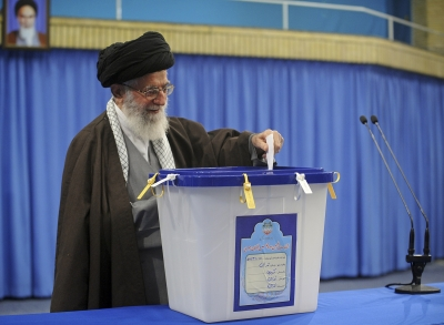 Khamenei votes in Iran's 11th parliamentary elections (Lead)