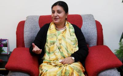 China congratulates Nepal President Bhandari on re-election