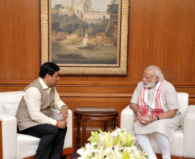 Modi calls Assam CM, assures all help to tackle flood situation (Lead)