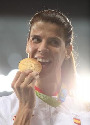 Olympic high jump champ Ruth Beitia retires