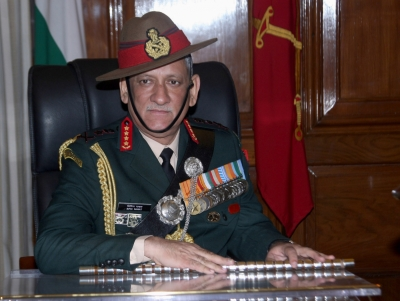 Indian Army chief in Nepal, visits temple