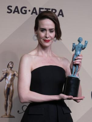 What made Sarah Paulson look like  highlighter