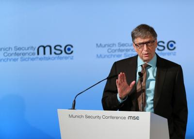 Rajnath requests Bill Gates to concentrate on making