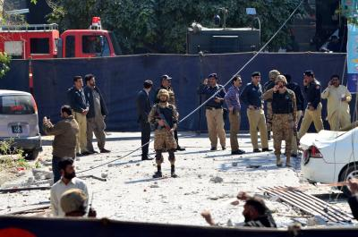Blast near Indian eatery kills eight in Lahore (Second Lead)