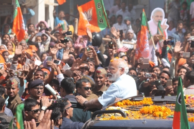 UP in throes of anarchy: Modi attacks SP (Lead)