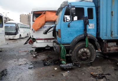 Toll rises to 44 in Damascus blasts (Lead)