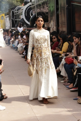 Samant Chauhan blazes a trail with fashion show at Rail Museum