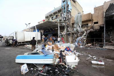 5 killed in Baghdad market suicide blast
