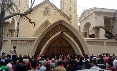 33 killed in blasts at Coptic churches in Egypt (Third Lead)