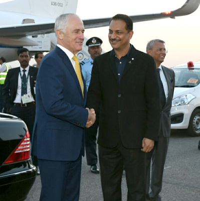Australian PM arrives on 4-day state visit