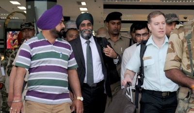 Canadian Defence Minister arives in Amritsar