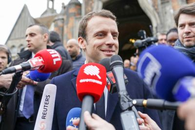 French presidential candidate Macron s campaign hacked (Lead)