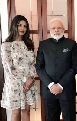 Priyanka Chopra has  insightful  conversation with PM Modi