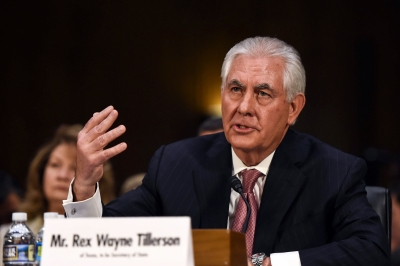 Tillerson urges European firms to join sanctions on Iran