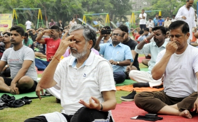 Bihar s grand alliance stays away from Yoga Day