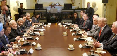 India-US delegation-level talks start (Lead)