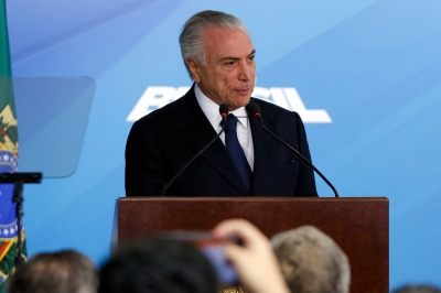 Brazil s Temer charged with corruption