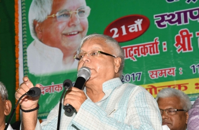 Lalu urges non-BJP parties to unite for 2019 (Lead, Supersedes earlier version)