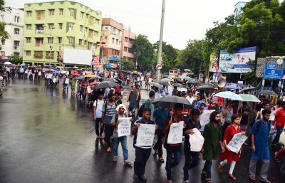 JU students, teachers rally against communal flare-up in Bengal