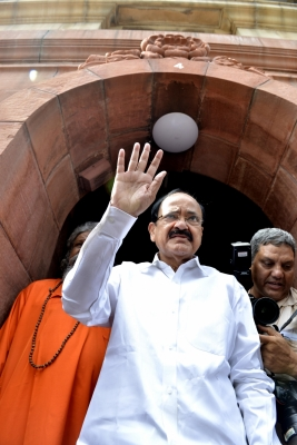 Naidu, Gandhi file nominations for Vice President s election (Second Lead)