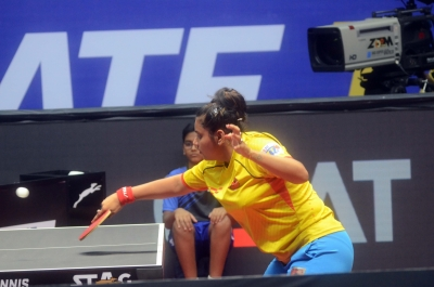 Suthirta defeats Sabine, joins Manika in round 64