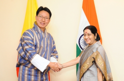 Doklam on table as Sushma meets Bhutan counterpart, Bimstec cooperation stressed (Roundup)