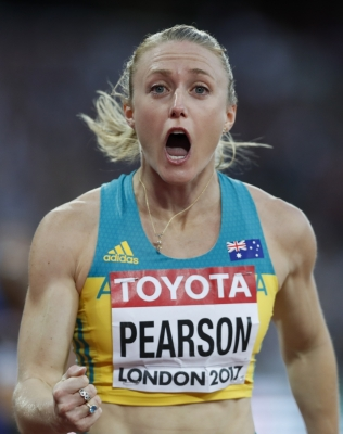 Pearson wins women s 100m hurdles title at world athletics