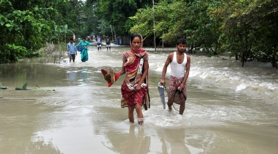 The real story behind flooded Assam school hoisting national flag