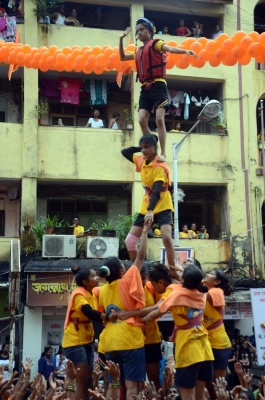 Dahi Handi  celebrated with nationalistic flavour in Maharashtra (With Image)