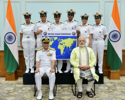 Modi meets all-women crew set to sail around globe