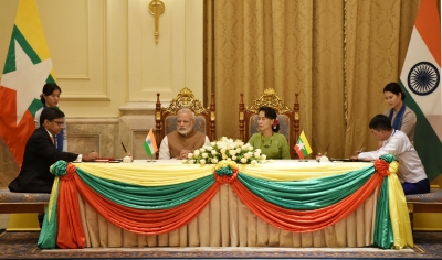 India, Myanmar sign 11 agreements (Lead)