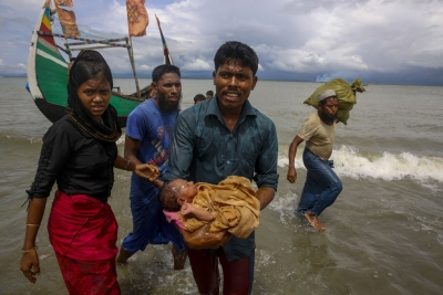 UN moves thousands of Rohingya refugees to safer terrain