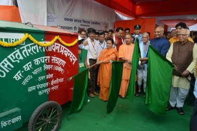 President launches cleanliness campaign in UP village