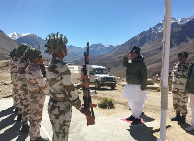 Rajnath Singh celebrates Dussehra with ITBP jawans