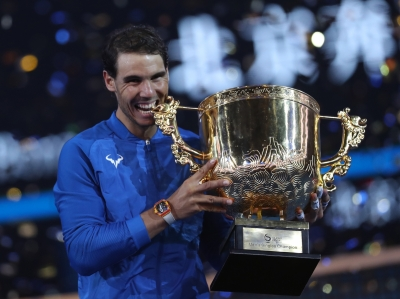 Nadal overwhelms Kyrgios in Beijing for 75th career title