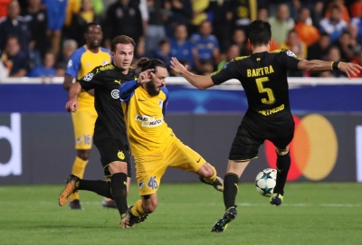 APOEL hold Dortmund in Champions League