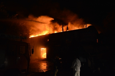 Kolkata warehouse catches fire