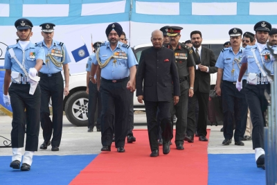 President Kovind awards President's standard to 223 Sqn, 117 Helicopter unit