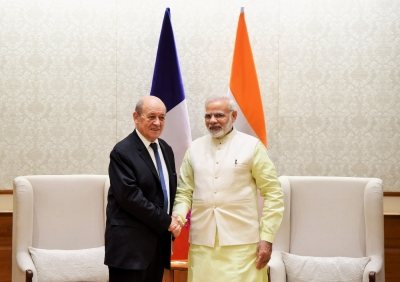French Foreign Minister Le Drian reached in India on two-day visit